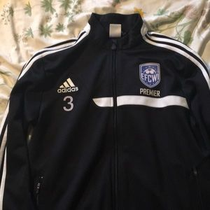 Adidas- soccer warm up jacket Size M